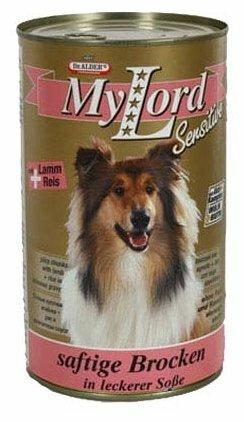 Корм для собак Dr. Alder`s МОЙ ЛОРД СЕНСИТИВ ягненок + рис кусочки в желе Для чувствительных собак (1.24 кг) 12 шт.