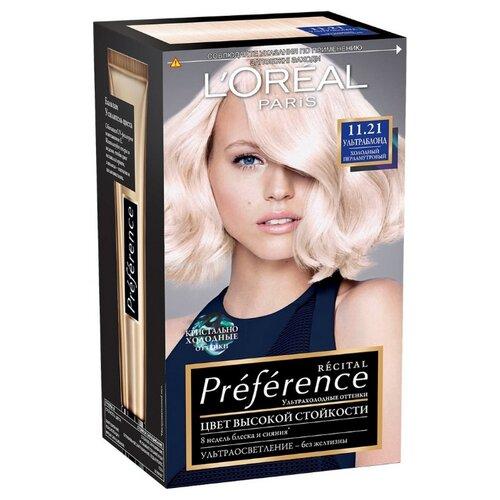 LOreal Paris Recital Preference стойкая краска для волос, 11.21, УльтраблондКраска<br>