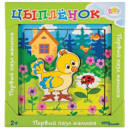 Фото - Рамка-вкладыш Step puzzle Baby Step Цыплёнок (89071), 7 дет. рамка вкладыш step puzzle baby step мышонок 89069 7 дет