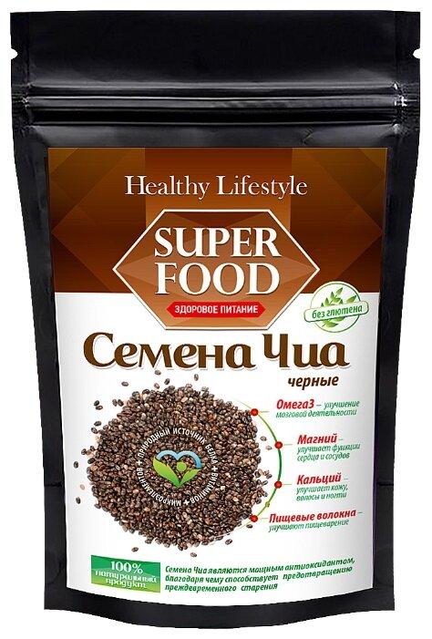 Healthy Life Style Семена чиа черные в пластиковом пакете, 250 г