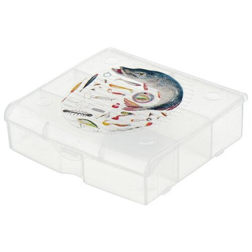 Ящик с органайзером BLOCKER 5 ячеек BR3726 14 х 13 x 4.1 см прозрачный матовыйЯщики для инструментов<br>