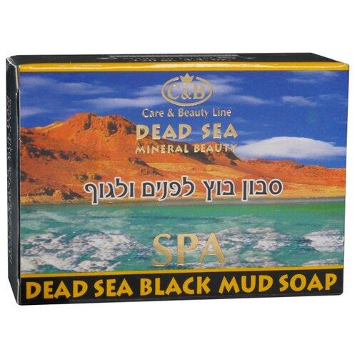 Мыло кусковое Care & Beauty Line Dead Sea Black Mud Soap Грязевое для лица и тела 120 гМыло<br>