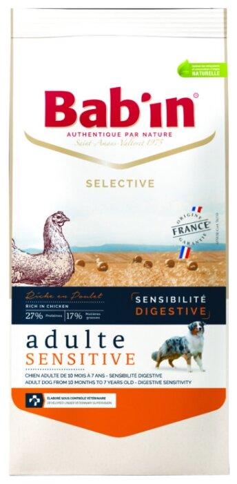 Корм для собак Bab'in Selective Adulte Sensitive Poulet