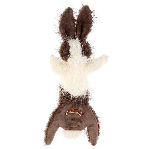 Игрушка для собак GiGwi Plush Friendz Заяц (75353) коричневый/бежевый игрушка для собак gigwi plush friendz белка 75309 коричневый бежевый
