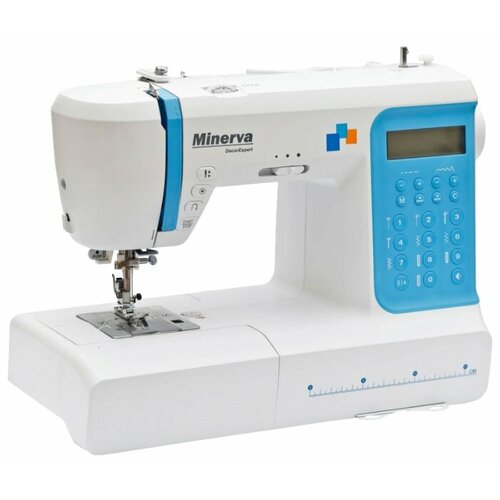 Швейная машина Minerva DecorExpert, белый/голубой швейная машина minerva f 832 b