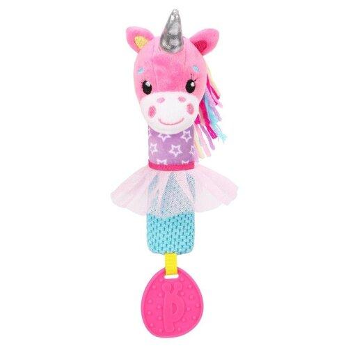 Купить Прорезыватель-погремушка Жирафики Единорог 939702 розовый/фиолетовый/голубой, Погремушки и прорезыватели