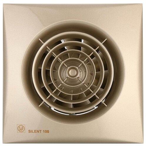 Вытяжной вентилятор Soler & Palau SILENT-100 CZ, champagne 8 Вт вытяжной вентилятор soler