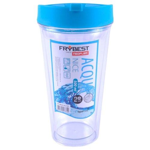 Frybest Стакан Acqua Nice 500 мл прозрачный/голубой