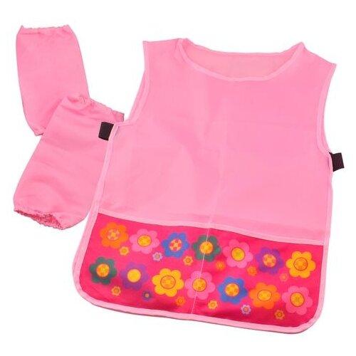 Купить BG фартук-накидка с нарукавниками Flowers (ФНТ_пэ 2076) розовый, Одежда для уроков труда