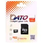 Карта памяти DATO microSDXC Class 10 UHS-I U1 + SD adapter