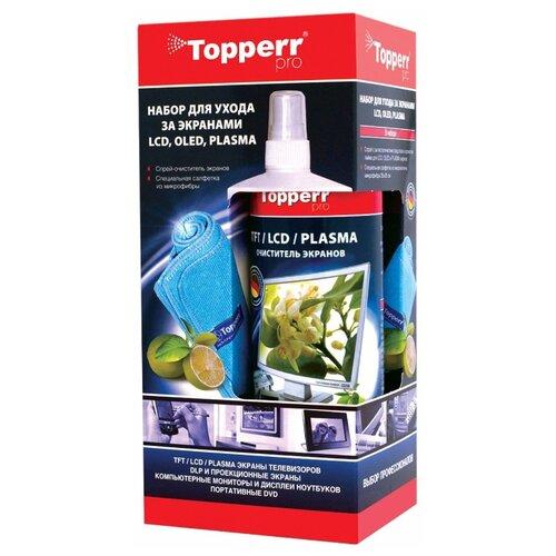 Купить Набор Topperr 3024 чистящий спрей+многоразовая салфетка для экрана, для ноутбука