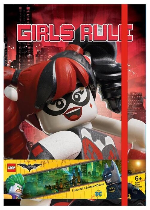Блокнот LEGO Batman Movie. Бэтгёрл, Харли Квинн 51731 20x14 см (96 листов)