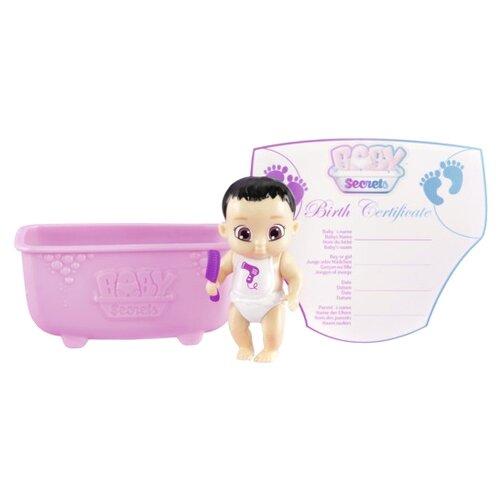 Пупс Zapf Creation Baby Secrets с ванночкой, 2 волна, 6 см, 930-236 zapf creation baby secrets 930 328 бэби секрет набор с садовыми качелями