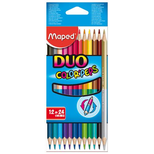 Купить Maped Цветные карандаши двусторонние Color Peps Duo 24 цвета 12 штук (829600)