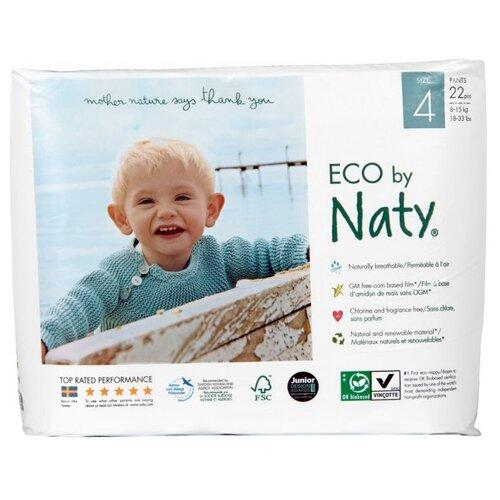 Купить Naty трусики Eco 4 (8-15 кг) 22 шт., Подгузники