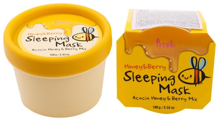 Prreti Ночная маска с мёдом и экстрактами лесных ягод