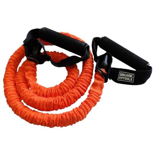 Эспандер универсальный Original FitTools в защитном кожухе Light (FT-TUBE-6912) 120 х 12 см оранжевый/черный