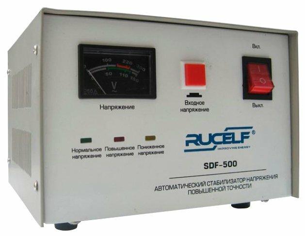 Стабилизатор напряжения однофазный RUCELF SDF-500 (0.4 кВт)