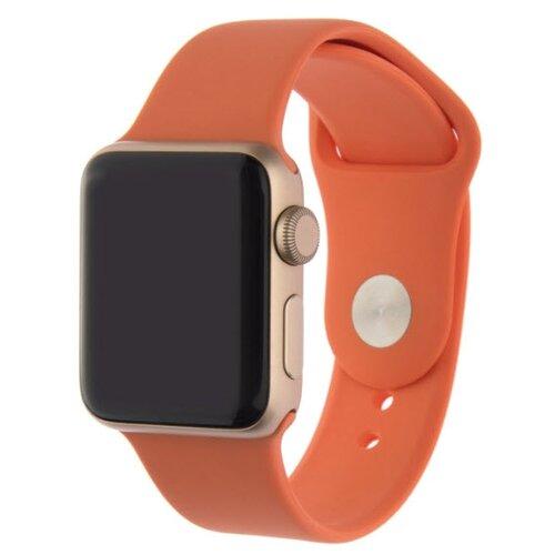 INTERSTEP Ремешок SPORT для Apple Watch 38/40 мм, силикон оранжевый