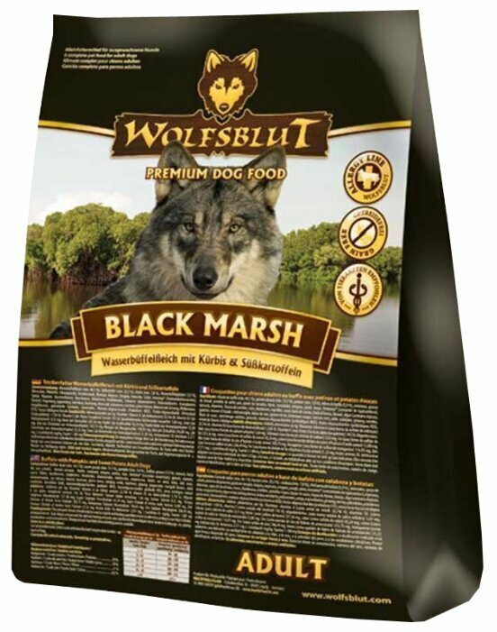 Корм для собак Wolfsblut Black Marsh Adult (15 кг)