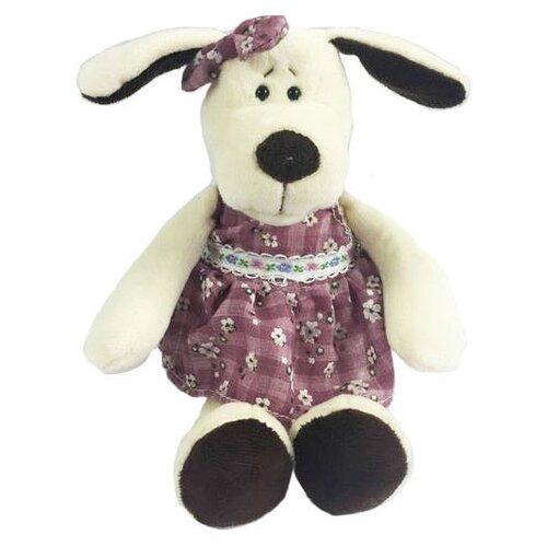 Мягкая игрушка ABtoys Собака в платье 16 см