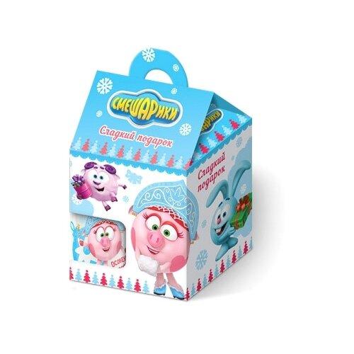 Жевательный мармелад Конфитрейд Смешарики с 3D игрушкой и фарфоровой кружкой ассорти 10 г конфитрейд маша и медведь печенье грибочки с подарочком 42 г