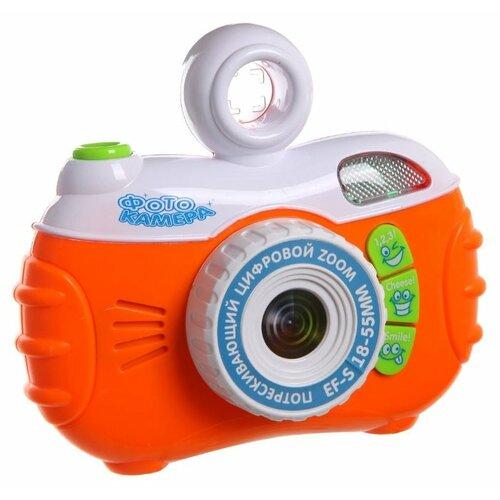Интерактивная развивающая игрушка Play Smart Фотокамера белый/оранжевый игрушка пластмассовая каталка вертолет play smart pac 28х15х10 см арт 1192