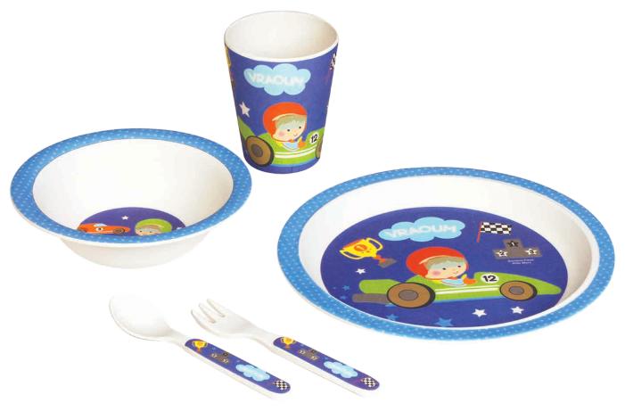 Комплект посуды Bambooware Маленький гонщик