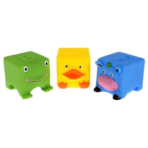 Купить Набор для ванной Играем вместе 3 кубика (LNX27-28-32) зеленый/желтый/голубой, Игрушки для ванной