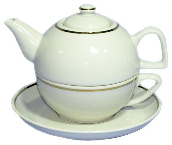 Чайный сервиз Добрушский фарфоровый завод Набор для чая 3 предмета без деколи