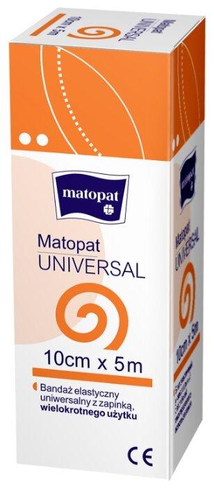 Бинт эластичный Матопат Universal с застежкой 5 м x 10 см, 1 шт.