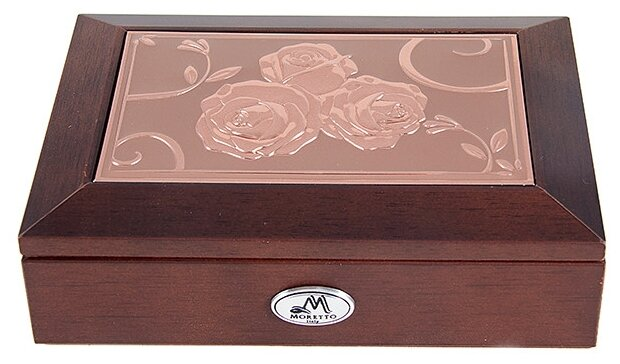 Moretto Шкатулка 139595 коричневый/красный