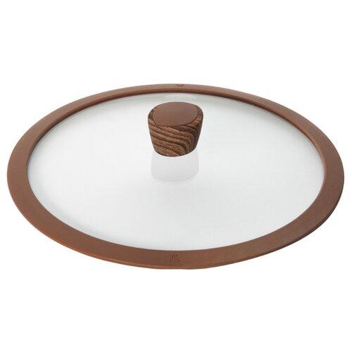 Крышка Nadoba Greta (751313), 24 см прозрачный/коричневый