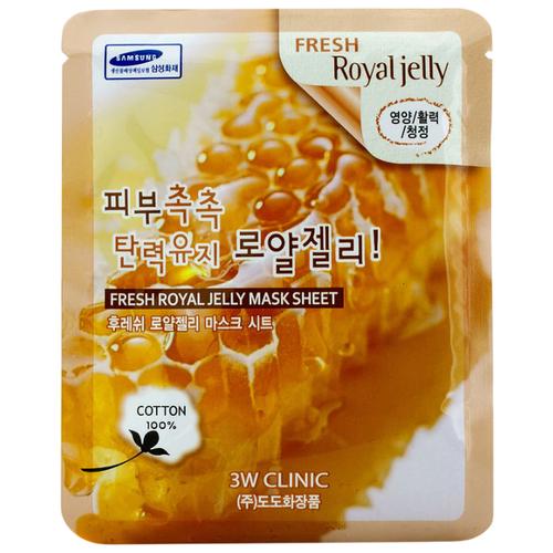 3W Clinic Fresh Royal Jelly Mask Sheet тканевая маска с маточным молочком, 23 мл beauty153 153 royal jelly essence mask объем 25 мл