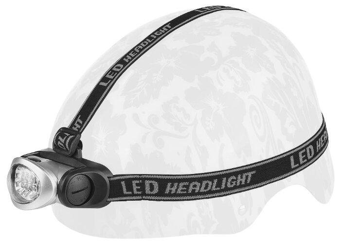 Фонарь на шлем STELS JY-828 серебристый/черный