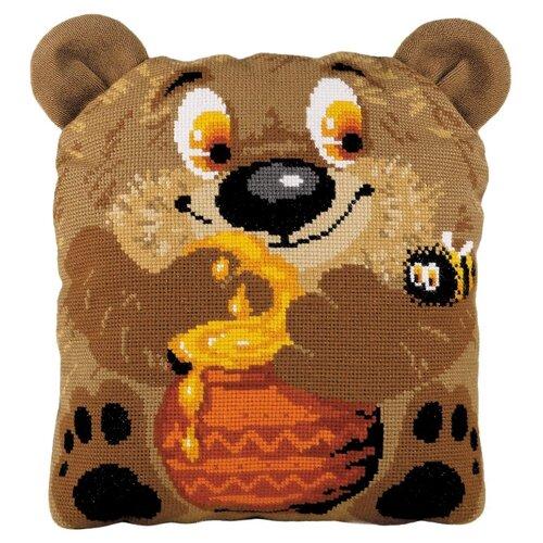 Риолис Набор для вышивания крестом Подушка Медвежонок 30 х 35 см (1590), Наборы для вышивания  - купить со скидкой