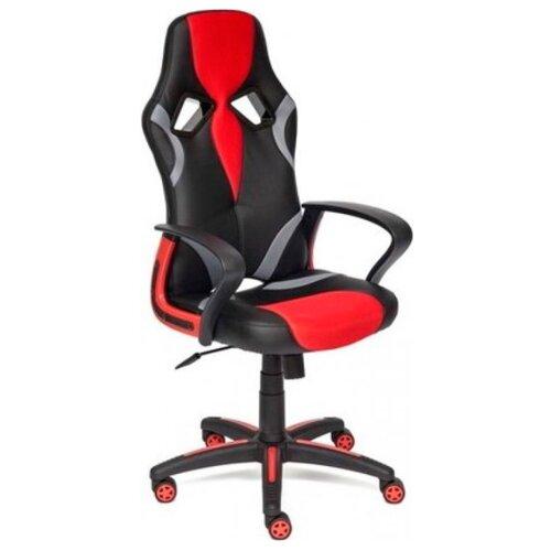 Компьютерное кресло TetChair Runner игровое, обивка: текстиль/искусственная кожа, цвет: черный/красный компьютерное кресло tetchair runner игровое обивка текстиль искусственная кожа цвет черный желтый