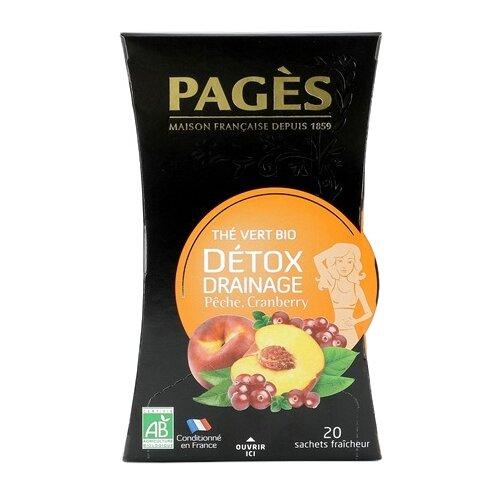 Чай зеленый Pages D?tox drainage в пакетиках, 20 шт.Чай<br>