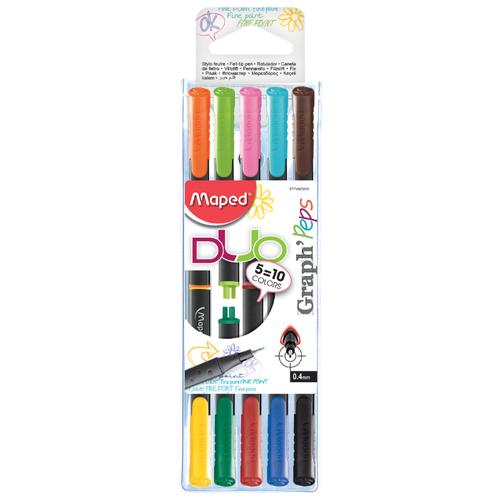 Купить Maped Набор капиллярных ручек Graph Peps Duo, 0, 4 мм (749250), Ручки