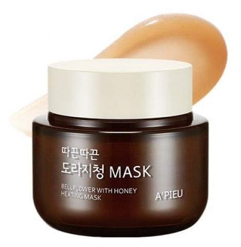 A'PIEU Согревающая маска с медом Bellflower With Honey Heating Mask