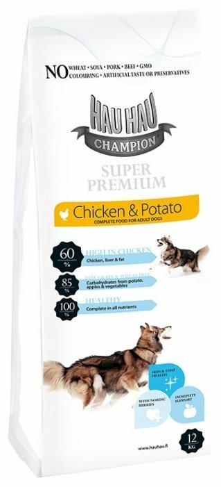 Корм для собак Hau-Hau Champion SuperPremium Chicken-Potato (12 кг)