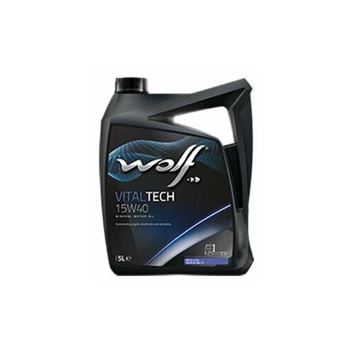 Минеральное моторное масло Wolf Vitaltech 15W40, 5 л