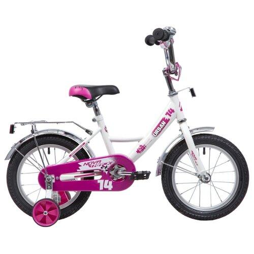 Детский велосипед Novatrack Urban 14 (2019) белый (требует финальной сборки) детский велосипед novatrack vector 18 2019 серебристый требует финальной сборки