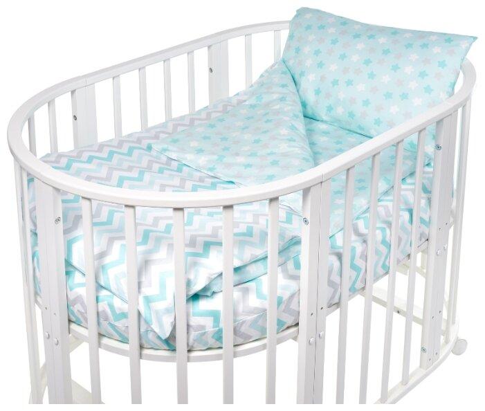Комплект постельного белья Sweet Baby Colori Giallo (Желтый) в круглую/овальн. кровать, 4 пр, поплин