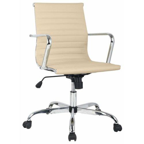 цена Компьютерное кресло College H-966L-2 офисное, обивка: искусственная кожа, цвет: слоновая кость онлайн в 2017 году