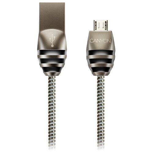 Кабель Canyon USB - microUSB (CNS-USBM5DG) 1 м черно-серый