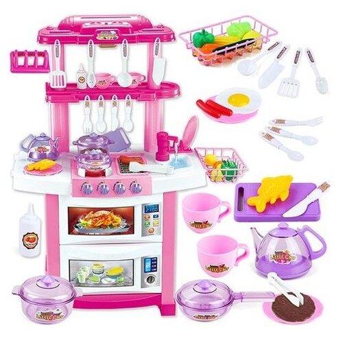 Купить Кухня Shantou Gepai Happy Little Chef 758A розовый/белый, Детские кухни и бытовая техника