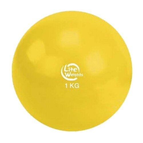 Медбол Lite Weights 1701LW, 1 кг желтый бодибар lite weights 33 х 1200 мм 6 кг