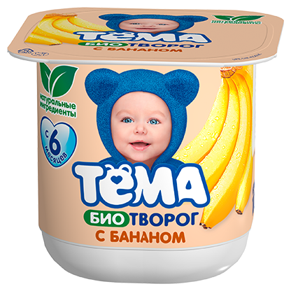 Творог Тема детский банан (с 6-ти месяцев) 4.2%, 100 г
