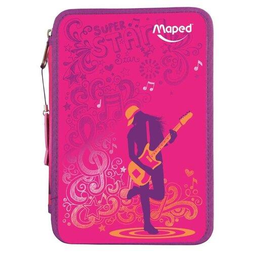 Купить Maped Пенал с наполнением Розовый (967431 2) розовый, Пеналы